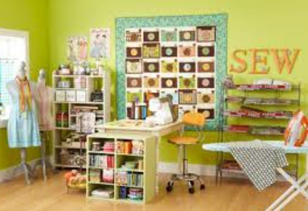 Pin by eleonora on sewing room pinterest sewing rooms Sewing room designs