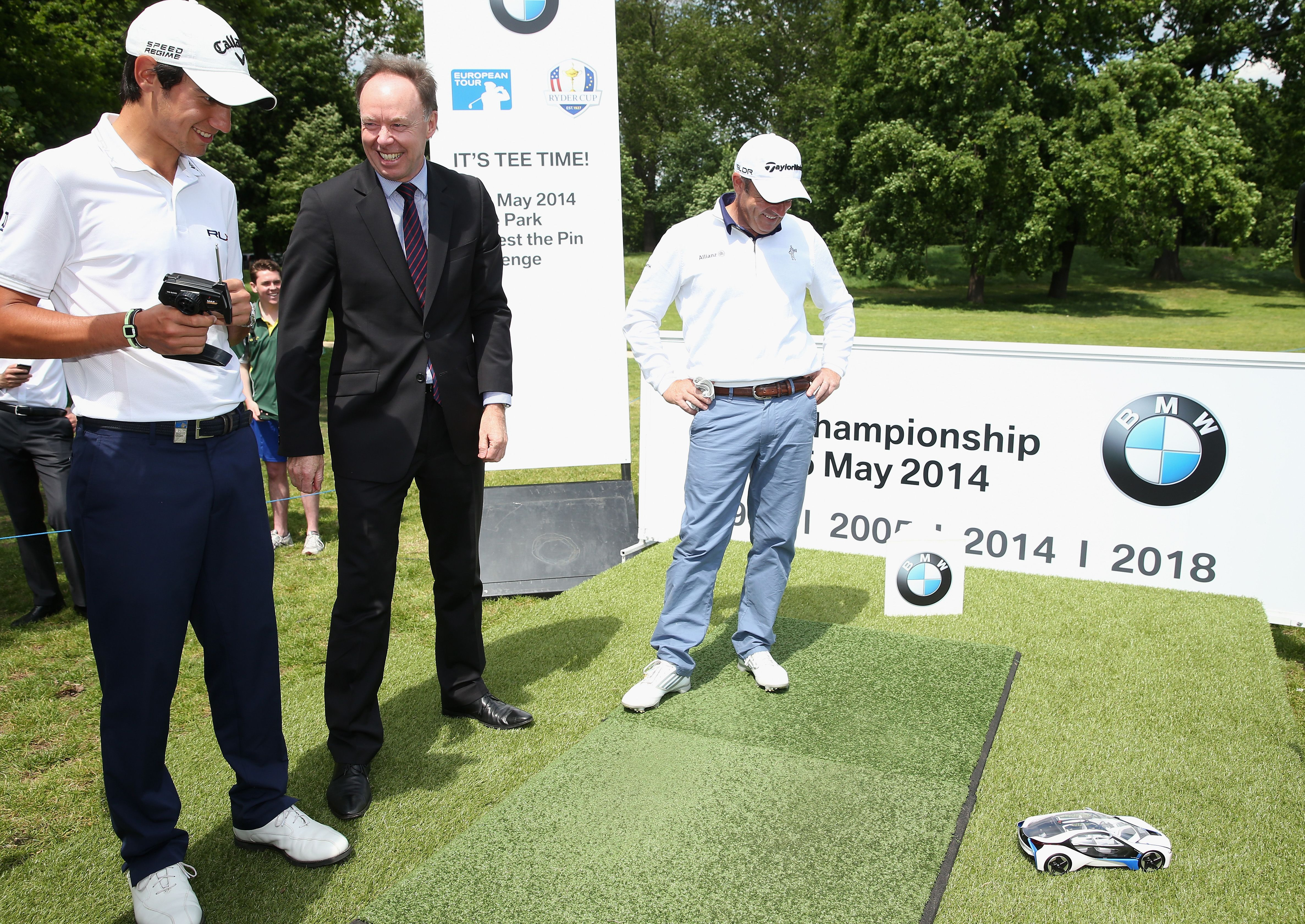 Bmw Pga Championship Tee Time In London S Iconic Hyde Park Testing Their Other Driving Skills Tees Time Bmw Golf Pga Championship