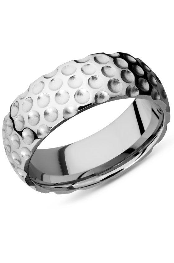 Golf Inspired Wedding Band Cc8dgolf Bead Polish001 Lifestyle