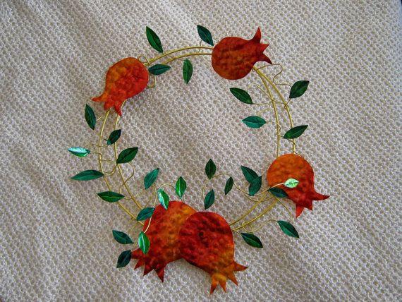 Winter  Wreath / luky pomegranates wreath / charm wreath