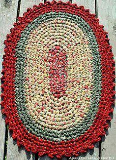 Crochet Oval Rag Rugs Pattern pattern by Donna Jac