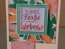 "Schüttelkarte ""Du bringst Farbe in mein Leben"""