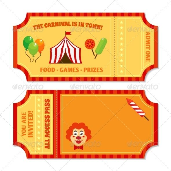 Food Tickets Template Impressive Circus Tickets Template  Circus Tickets Ticket Template And Template