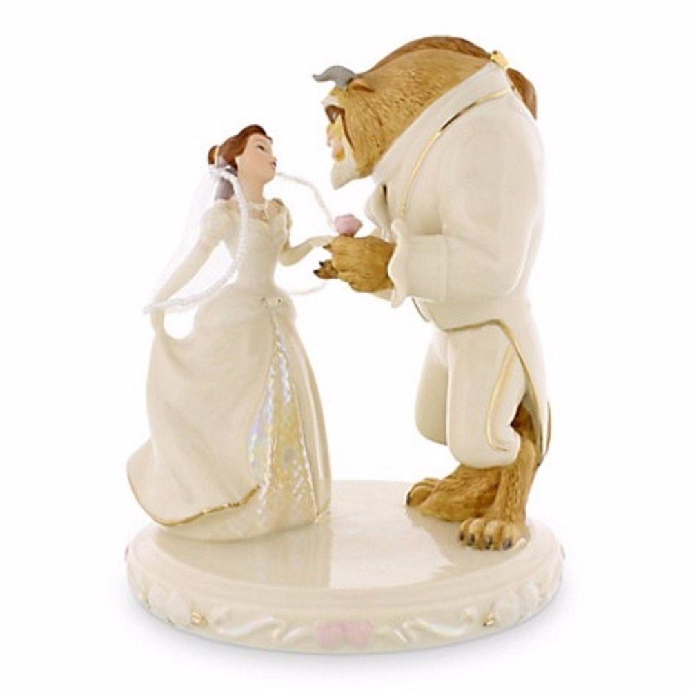 Belle ornament disney - Lenox Disney S Beauty Beast Belle S Wedding Dreams Cake Topper Figurine Nib