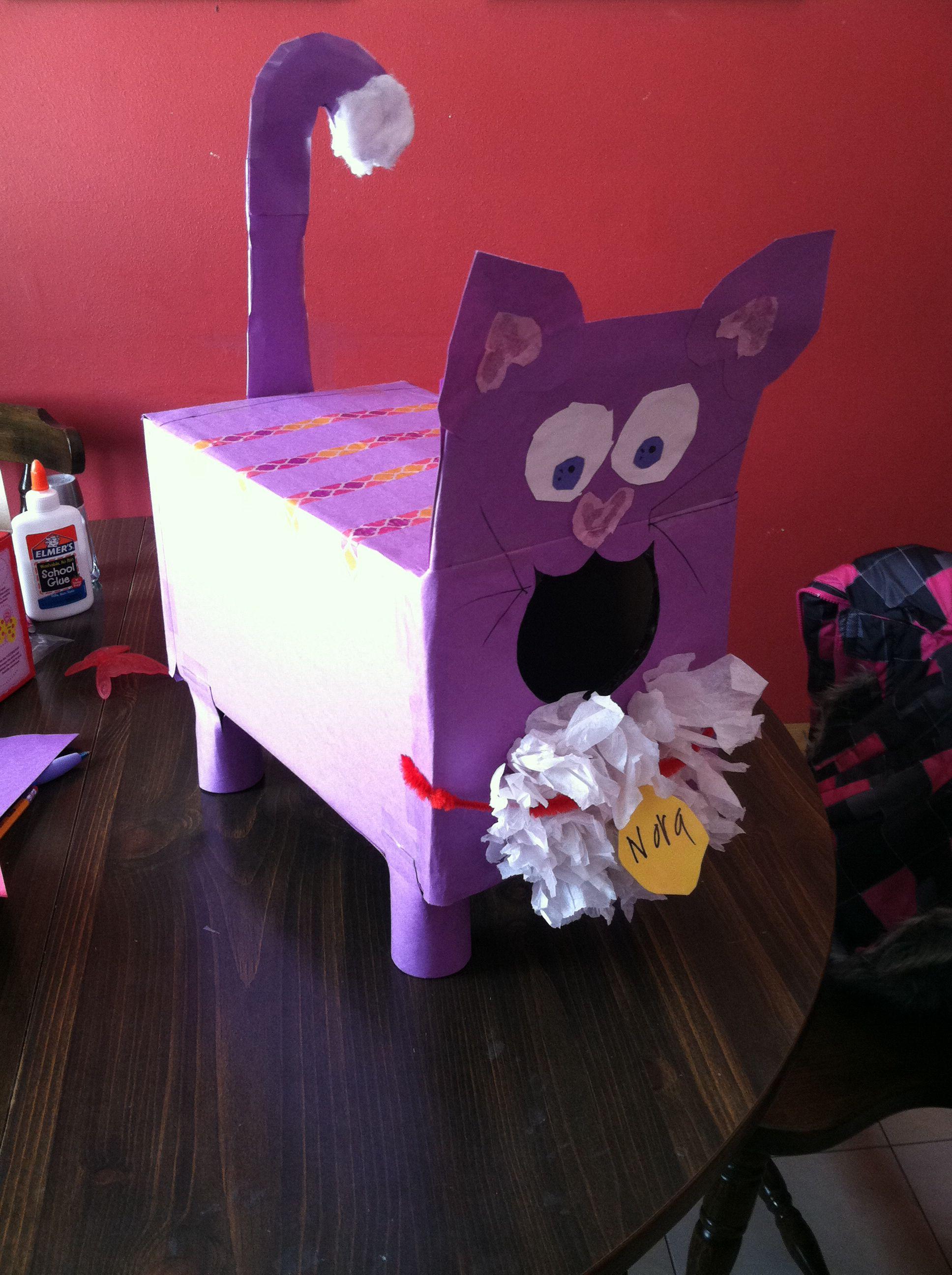 cat valentines day box - Cat Valentine Box