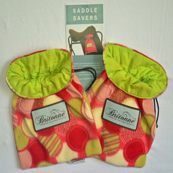 Jelly Cookies Saddle Savers with lime fabric lining