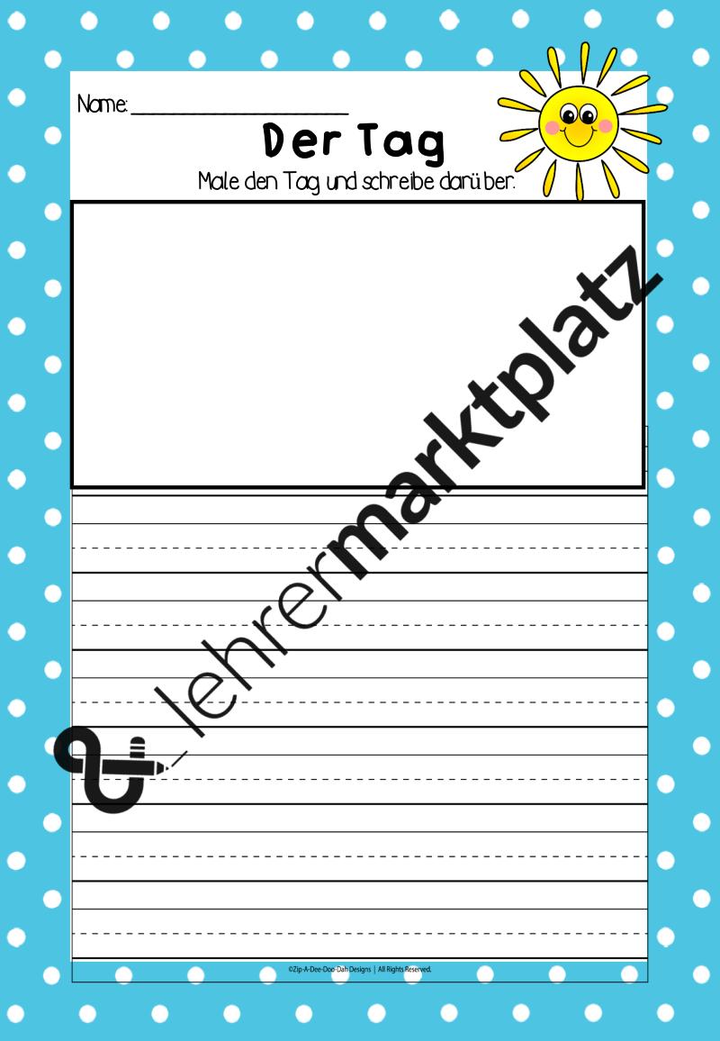 Tag und Nacht – Sachunterricht | Jahreszeiten Arbeitsblatt ...