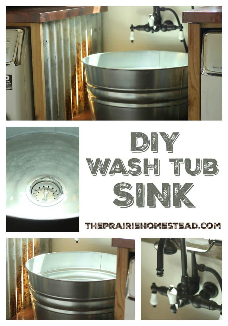 DIY Galvanized Tub Sink  Emergency Preparedness