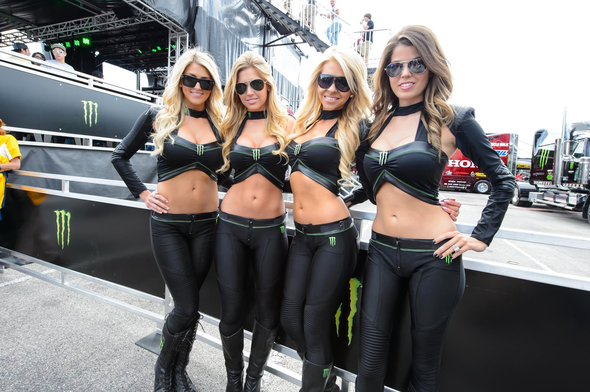 Simply Pictures of hot girls that sponsor monster energy speaking