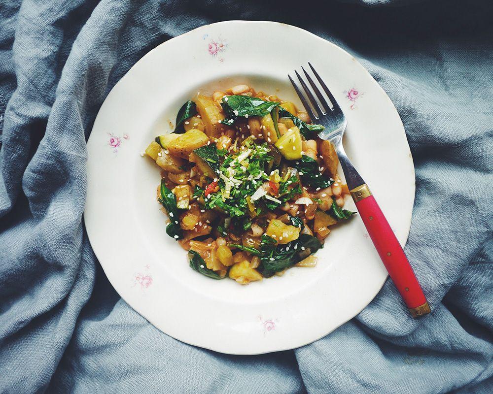 Med goda grönsaker, mjuka bönor, vitt vin och smakrik gremolata på toppen kan det inte bli annat än en supergod italiensk grönsaksgryta.