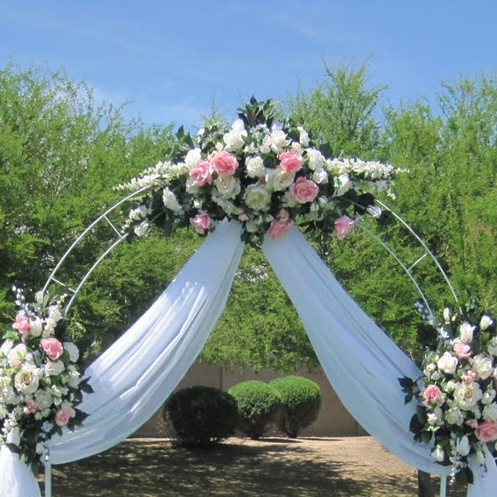 7.5 Ft White Metal Tall Arch Wedding Garden Bridal Party Decoration ...