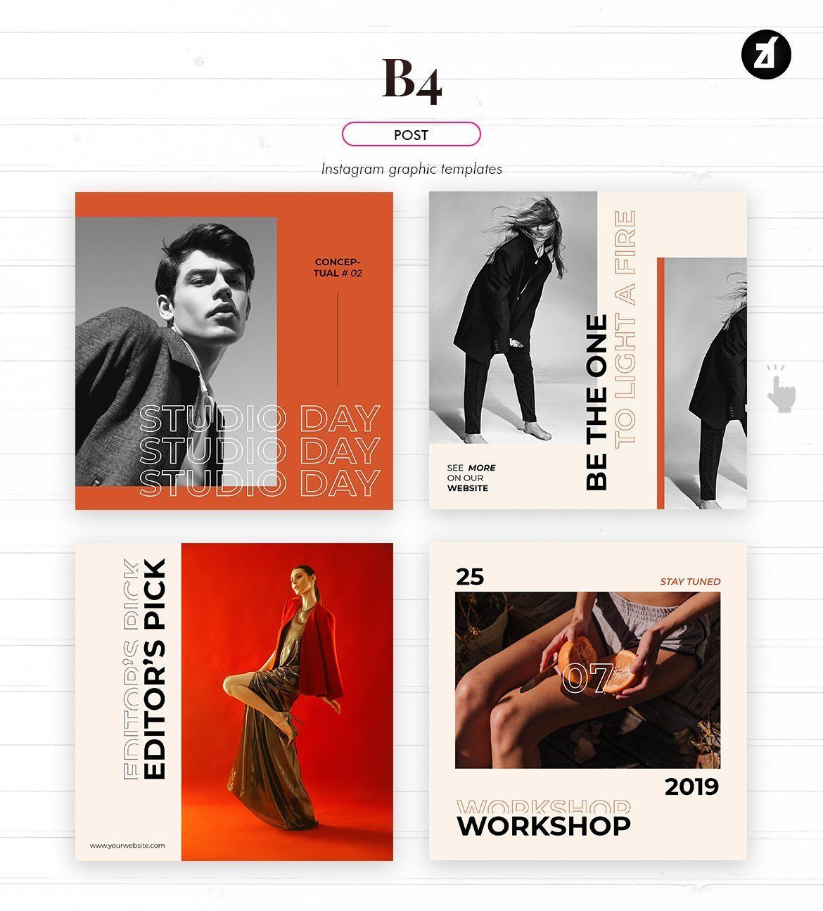 B4 social media graphic templates by Chanut is industries #elegant #post #insta