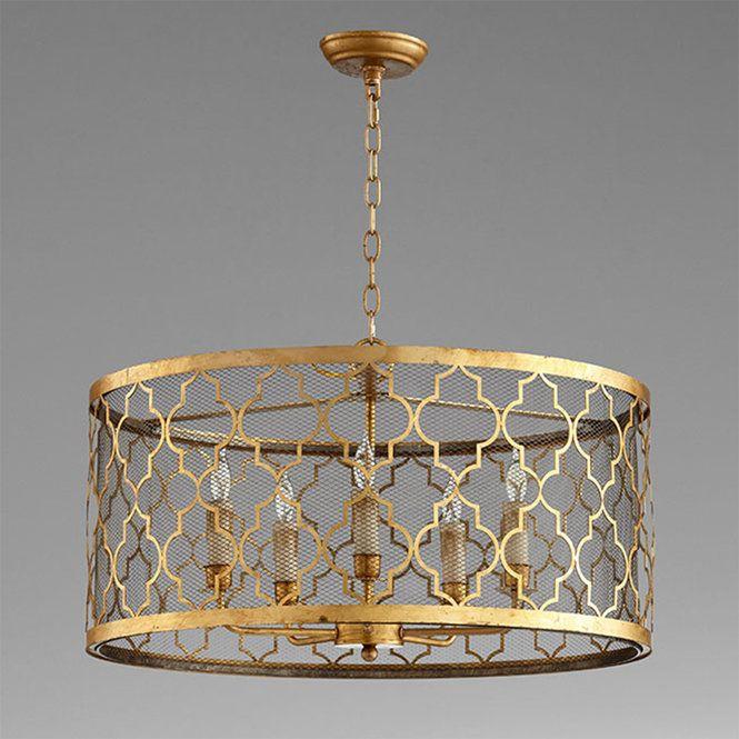 Caged Arabesque Drum Chandelier In 2020 Pendant Lamp