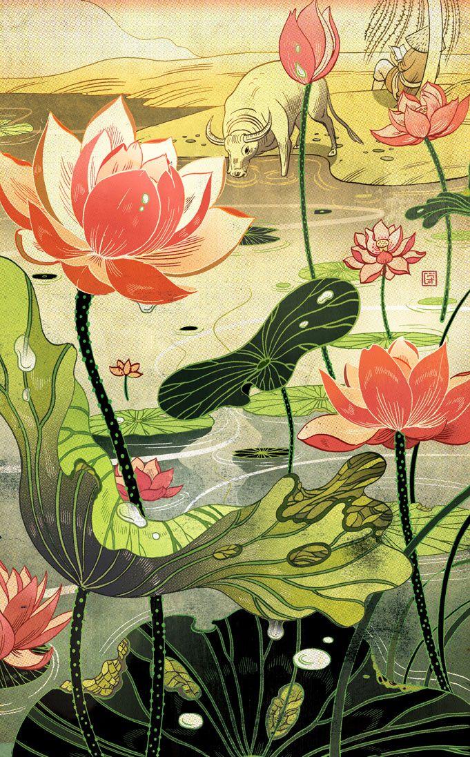Victo Ngai, Chinese Fairy Tales and Fantasies Victo Ngai I...
