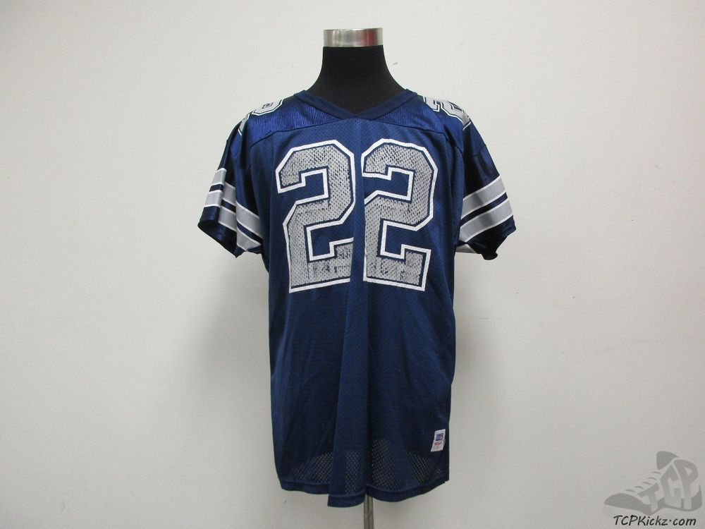 separation shoes 19b5a 42c3c Details about EMMITT SMITH VTG 90s JERSEY YOUTH XL WILSON ...