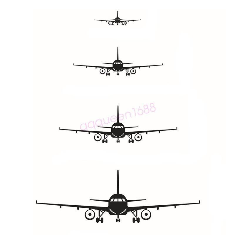 Airplanes Plane Aircraft Wall Decal Room Decor Home Vinyl Sticker