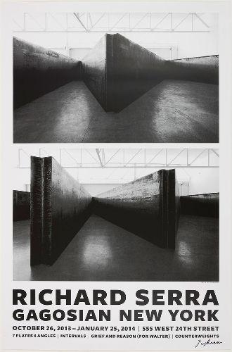 Richard Serra New Sculpture Poster 7 Plates Intervals Grief And Reason For Walter Counterweights Signed 75 Gagosian Shop Richard Serra Serra Dad Art