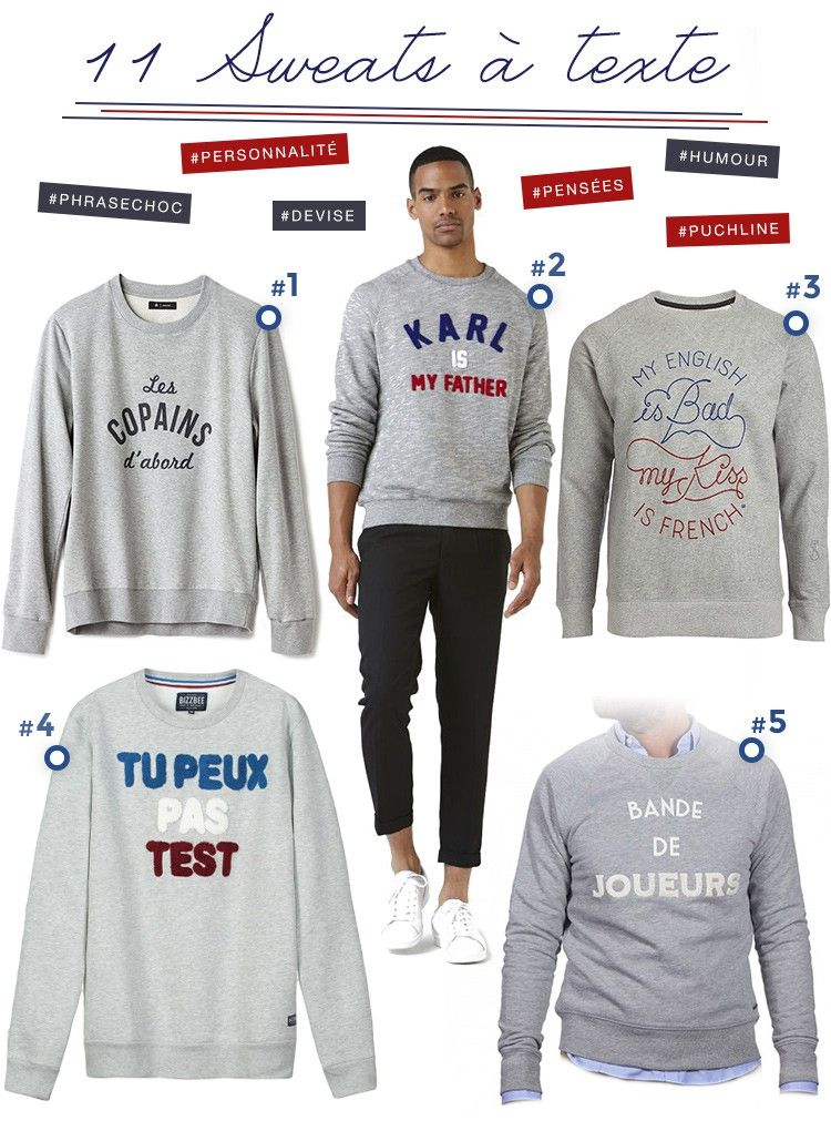pull homme humour