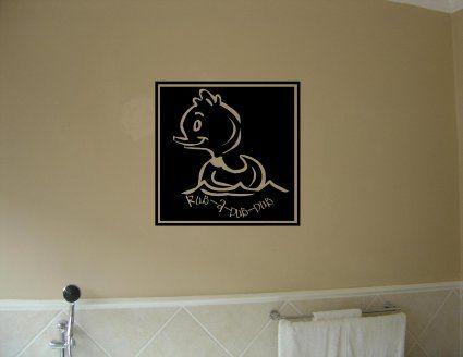 RUB A DUB DUB Vinyl wall quotes stickers sayings home art decor decal - Amazon.com