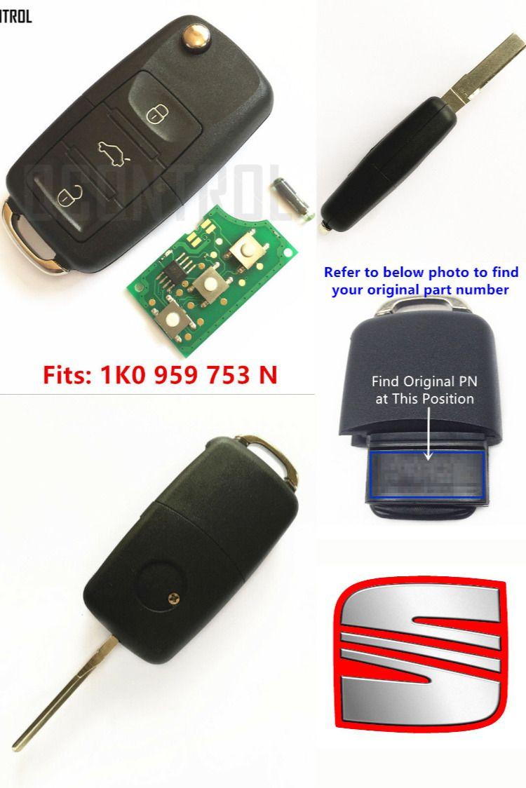 Us 11 61 Car Remote Control Key Fob For Seat Altea Ibiza Leon