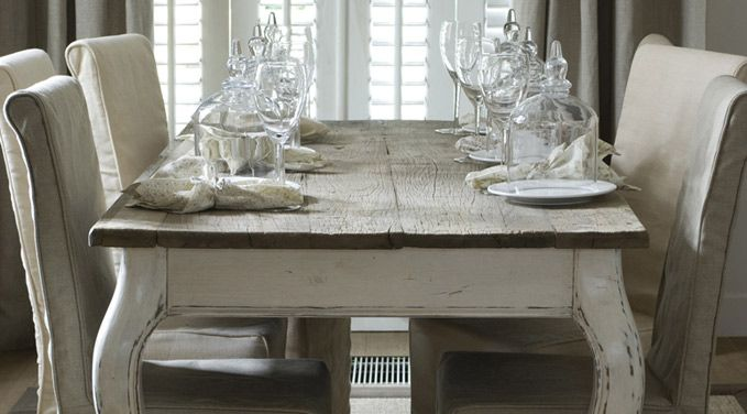 Stunning Driftwood Dining Table With Just The Right Table Setting