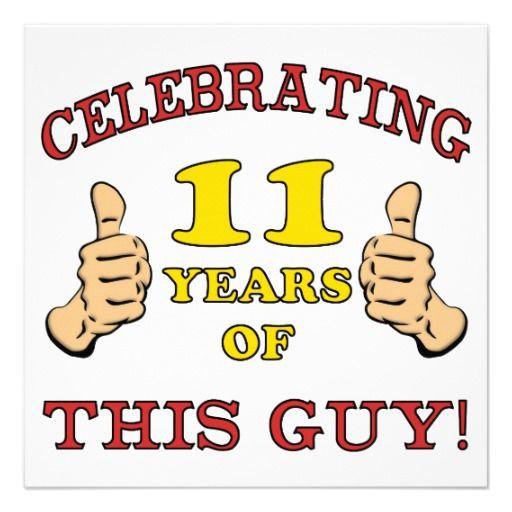 Funny 11th Birthday For Boys Custom Invitations