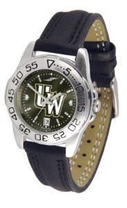 University of Wyoming Cowboys Ladies Leather Band Sports Watch SunTime. $50.14