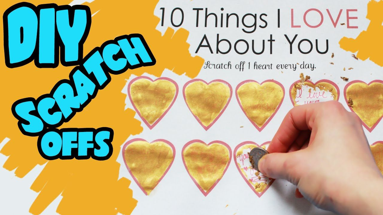 Diy wedding scratch card game inspiration things i love about