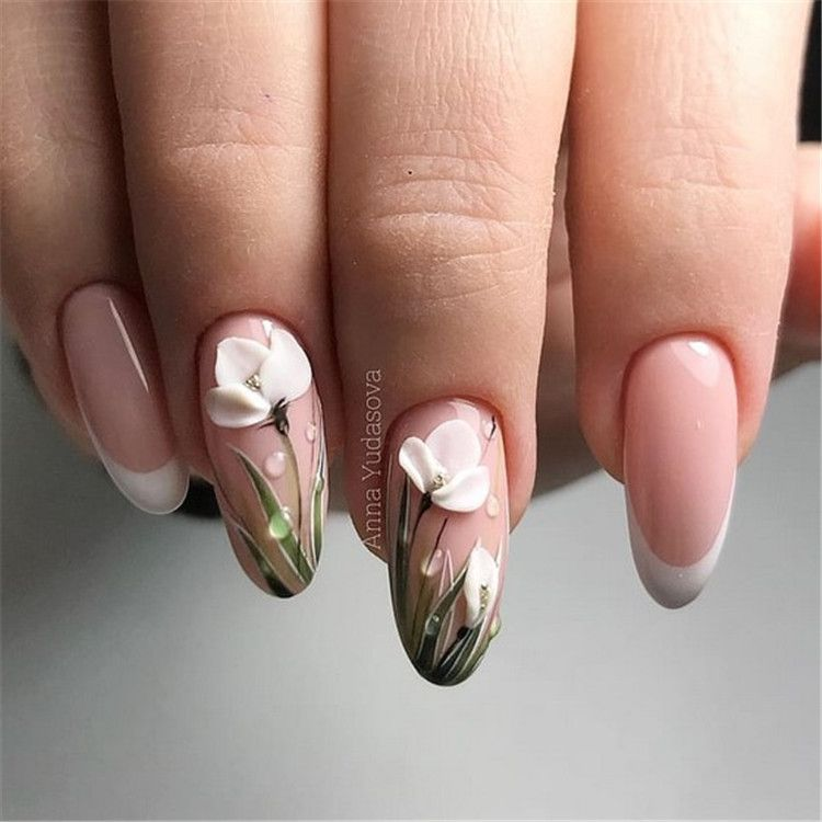Bright And Original Design Of French Manicure Page 14 Of 20 Inspiration Diary Flower Nails 3d Nail Art Designs 3d Nail Designs