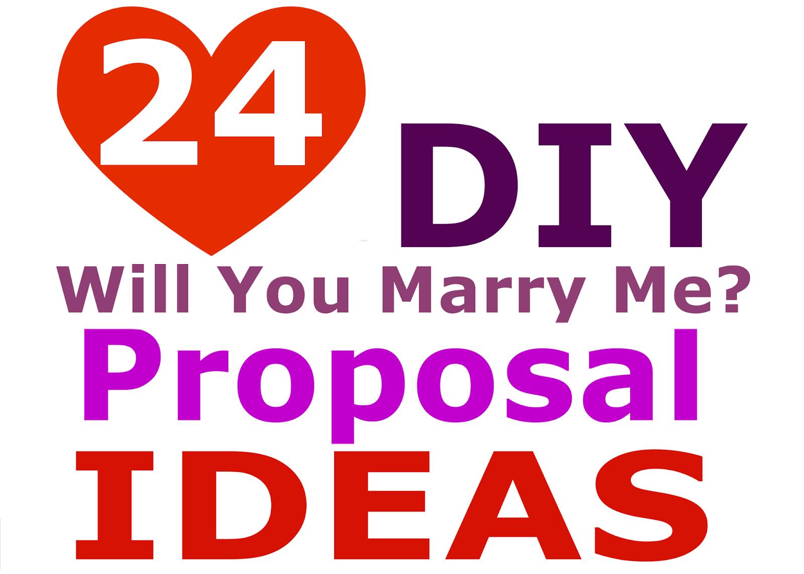 Wedding Blog 24 DIY Marriage Proposal Ideas