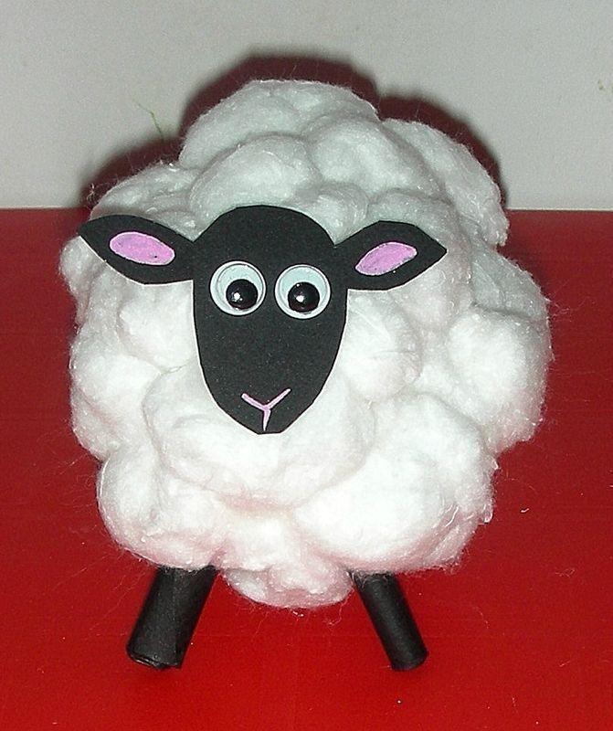 D coration de p ques mouton en coton activit s for Decoration paques