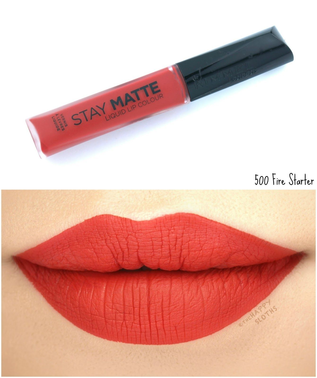 Rimmel London Stay Matte Liquid Lip Colour 500 Fire Starter