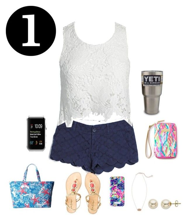 """Lily one! Read d!!!"" by bminman ❤ liked on Polyvore featuring Lilly Pulitzer, Sans Souci, Kendra Scott and Lord & Taylor"