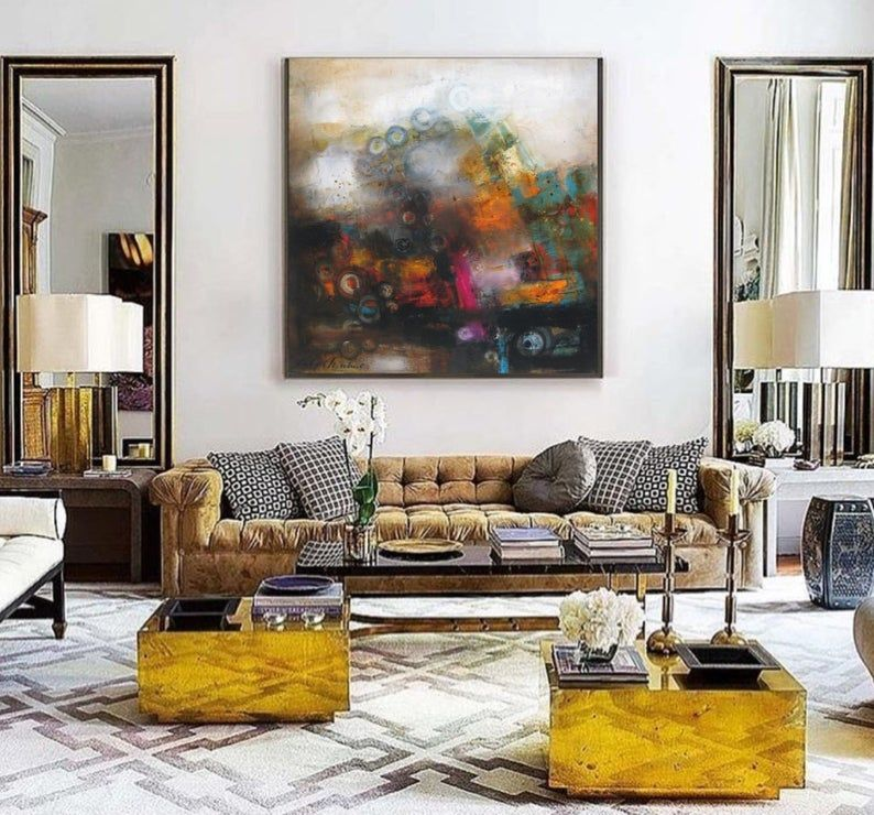 Oversized Art Canvas Abstract Wall Art Print Extra Large Etsy In 2020 Oversized Wall Decor Wall Art Living Room Decor #oversized #wall #art #for #living #room