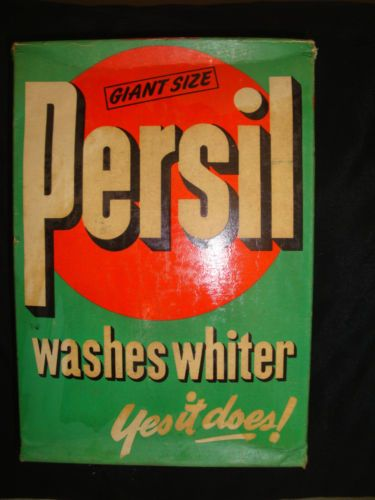 Genuine Vintage Box Of Persil Washing Powder Washing Powder
