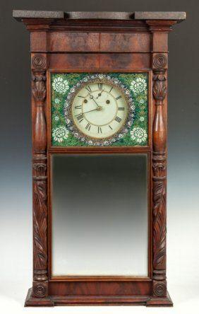Asa Munger Flat Top Shelf Clock Auburn Ny Clock Antique Wall Clock Antique Clocks
