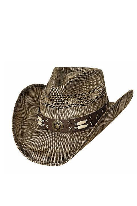 Bullhide Desperado Straw Cowboy Hat  western  star  beaded  1933980cdb1b