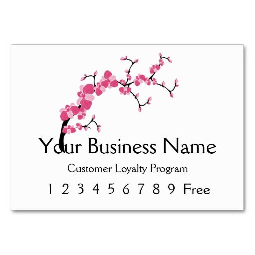 Loyalty Card 2 Cherry Blossom Tree Branch Business Card Template Cherry Blossom Tree Business Card Template Tree Branches