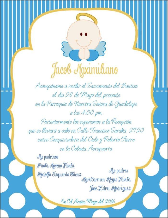 Invitaciones De Bautizo Para Niño Y Niña Bonitas Y