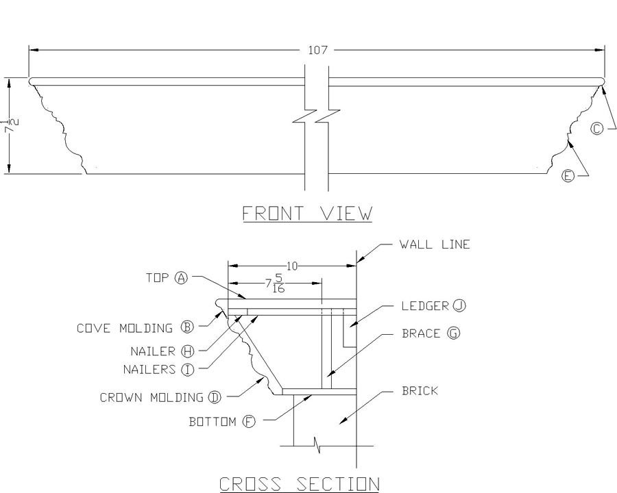 How To Build a Fireplace Mantel Shelf - Woodworking Plans from Lee's Wood  Projects - How To Build A Fireplace Mantel Shelf - Woodworking Plans From
