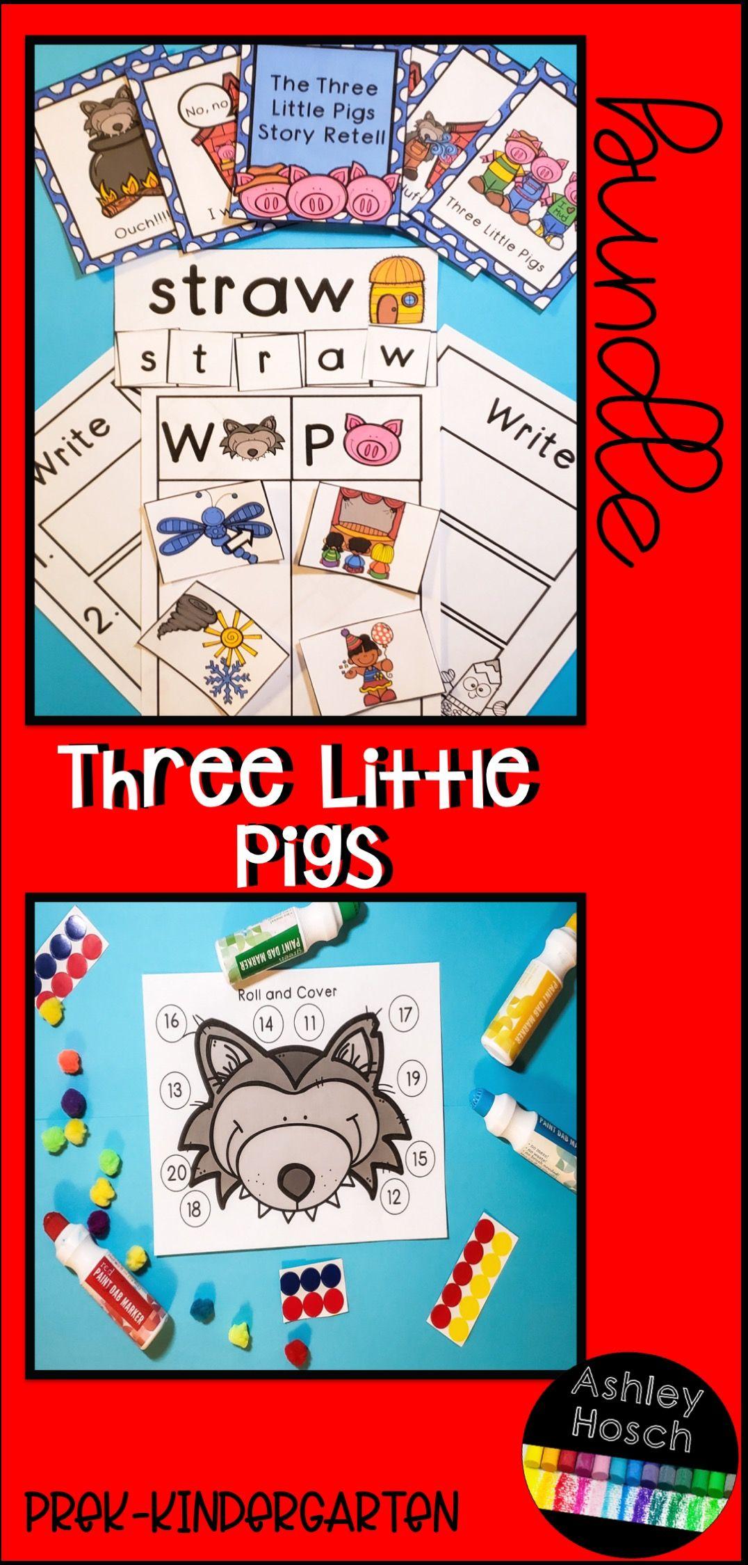 Three Little Pigs Bundle For Preschool Prek Kindergarten