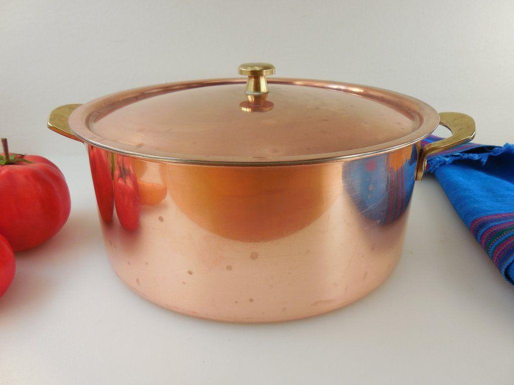 Spring Culinox Switzerland Copper Br Stainless Cookware 4 Quart Pot Lid