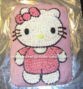 Coolest Hello Kitty Birthday Cake Birthday cakes Homemade and