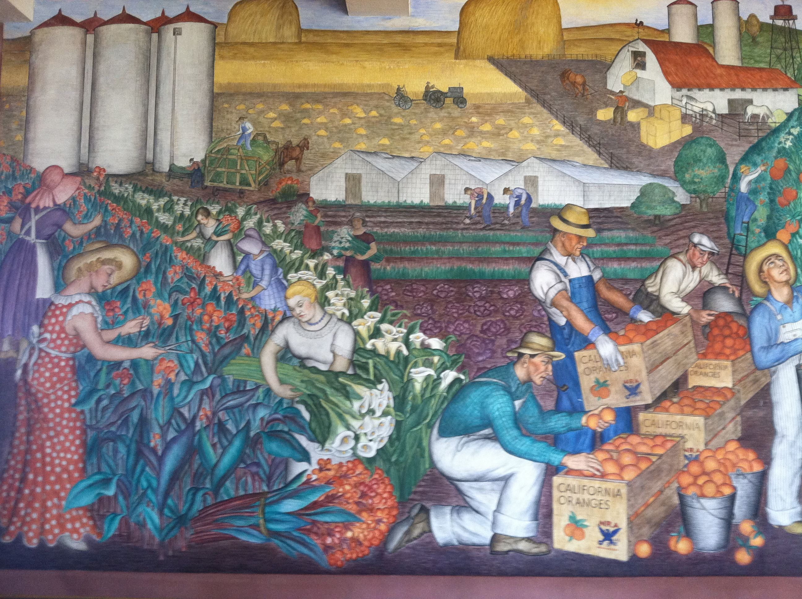 Coit tower wpa murals sf artwork pinterest for Coit tower mural