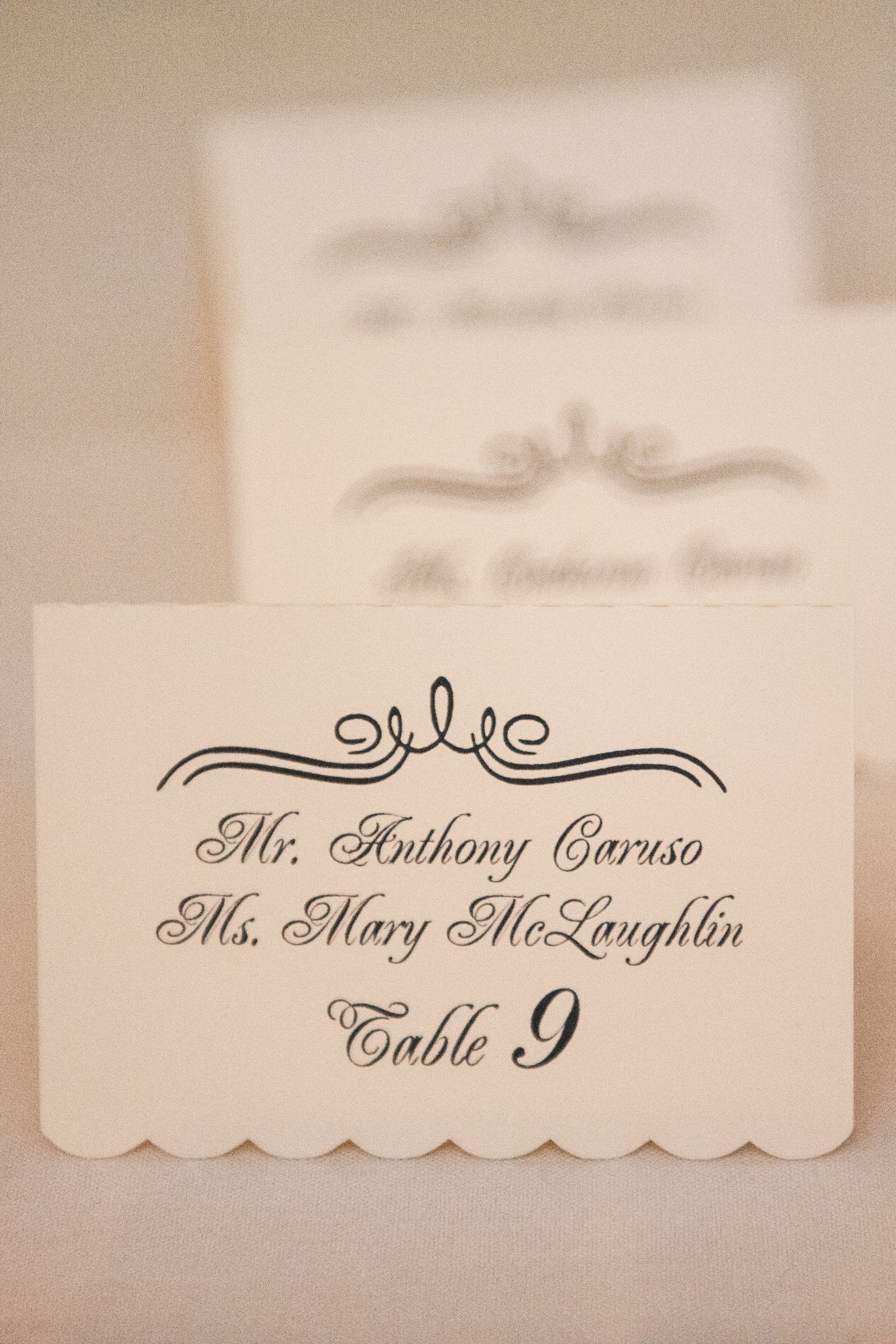 Made these place cards for my best friends wedding. Used my ...