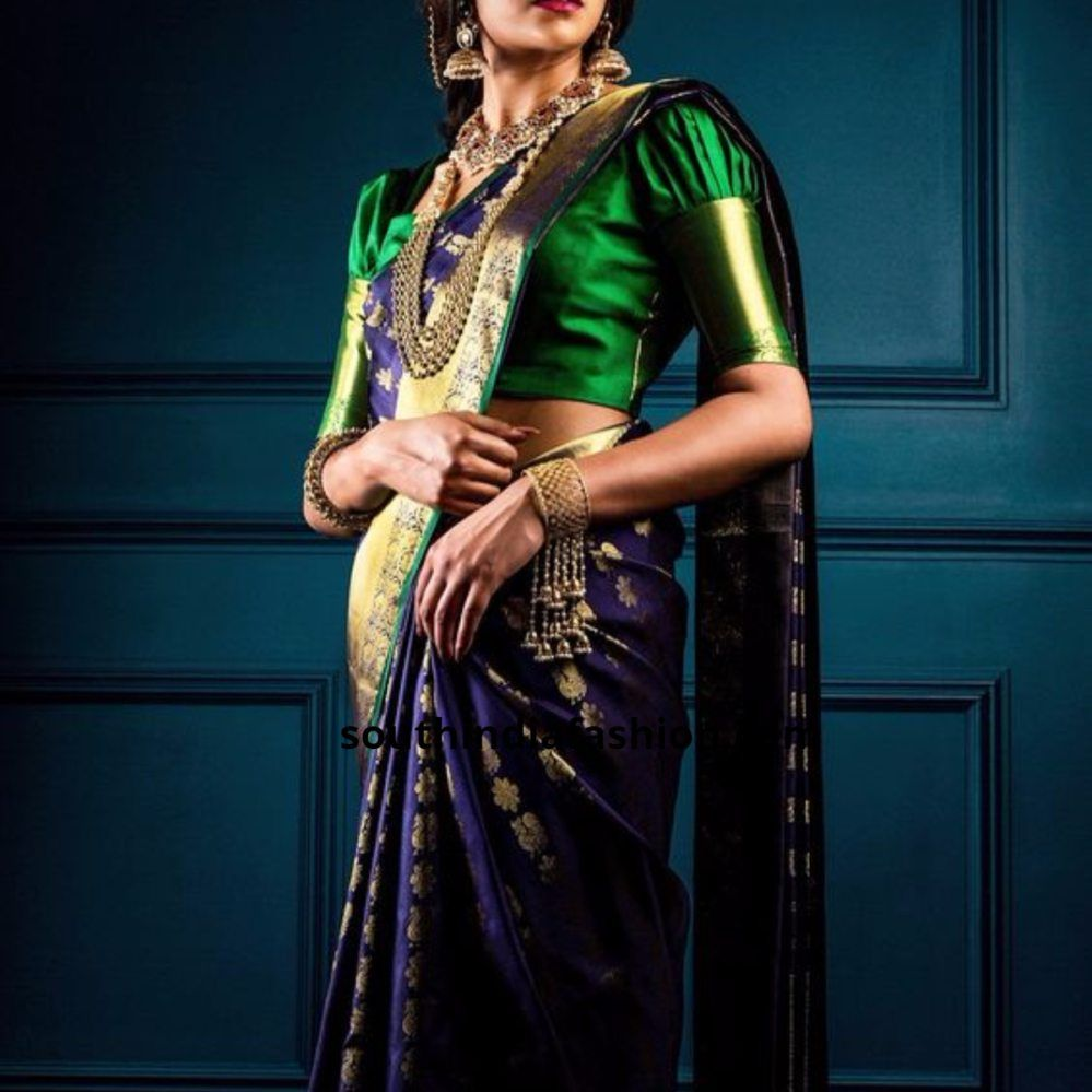 d23e1a6a93e224 10 Dramatic Puff Sleeve Blouses For Pattu Sarees | Fashion | Latest ...