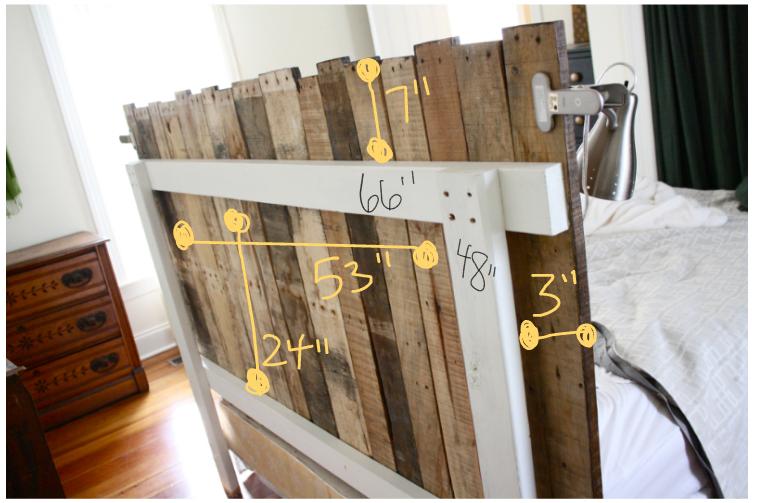 Estructura del cabecero de cama fabricado con palets diy - Estructuras con palets ...