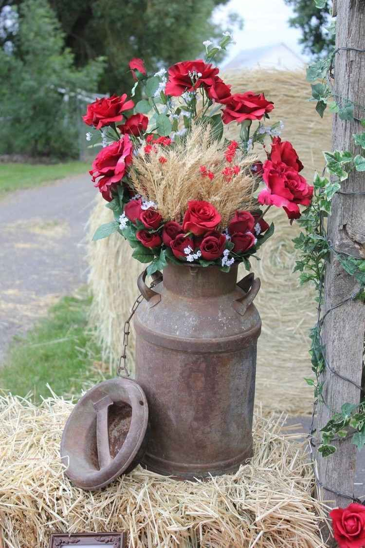 Decoración de otoño para Acción de Gracias en espigas de trigo  – Boda