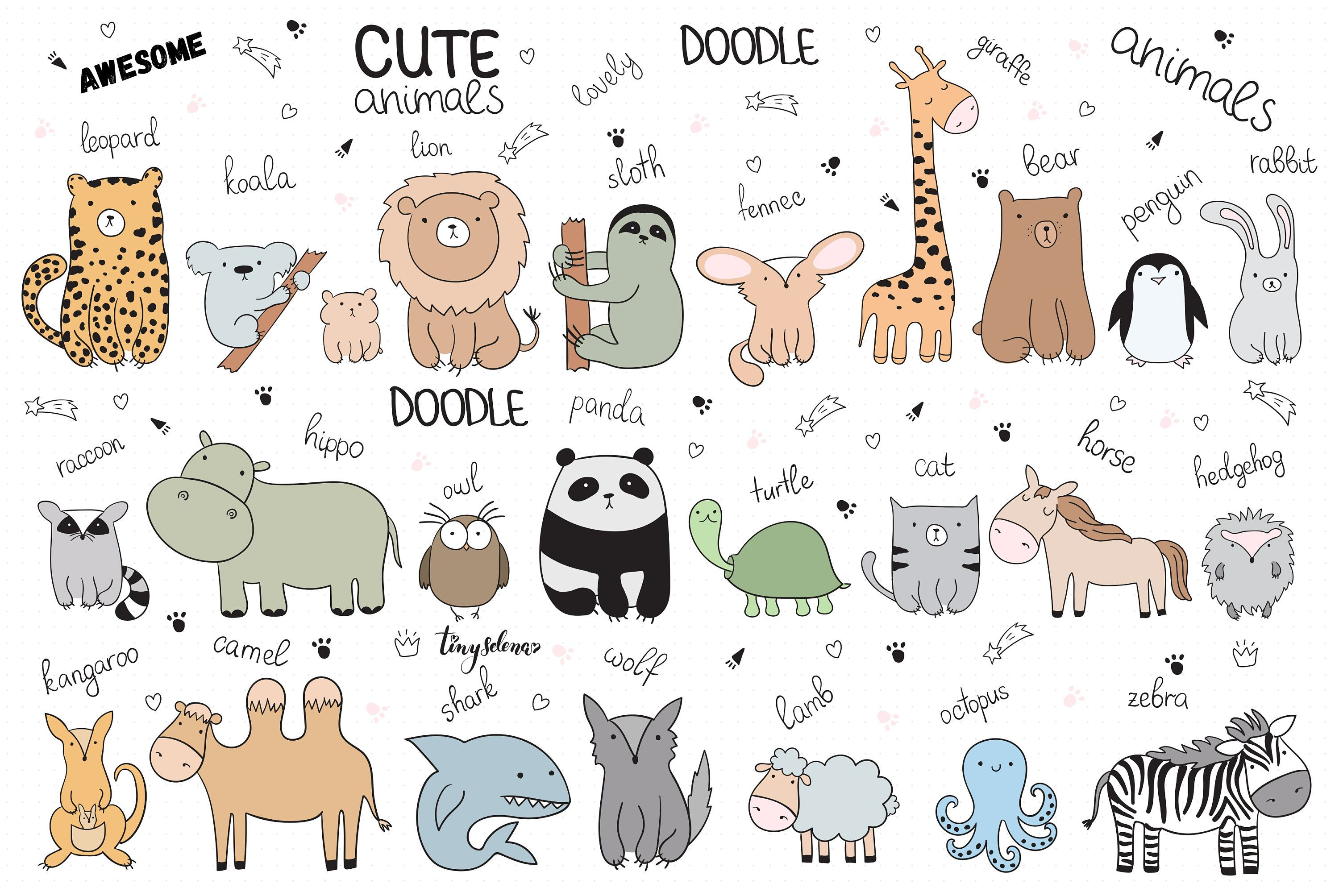 Baby Cute Animals Svg Line Art Svg Zoo Clipart Woodland Etsy In 2021 Baby Animal Drawings Animal Line Drawings Animal Doodles