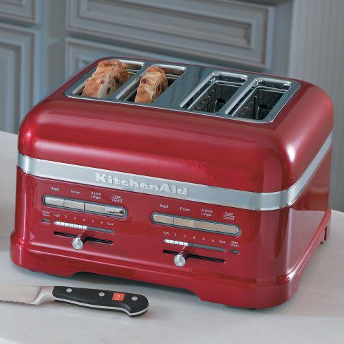 KitchenAid KMT4203CA Candy Apple Red 4 Slice Pro Line Toaster   Http://